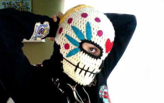 Sugar Skull Winter Mask Pattern - Sewing My Fingers Together